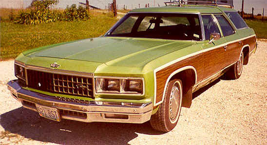 1976 Chevy Caprice - The sides really are made from wood