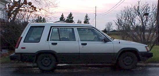 Toyota Tercel. 1987 Toyota Tercel station